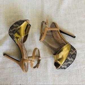 Gold Stiletto Heels